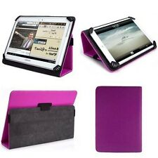 "Purple PU Leather Folio Stand Case for 8.5"" 9"" 9.7"" 10"" 10.1"" Tablets"