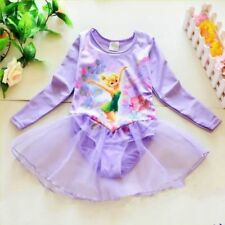 Girls Fairy Party TINKERBELL Leotard Ballet Tutu Dance Skirt Dress Costume GIFT