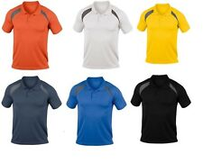 Hanes Cool-DRI Contrast Mens Sports Polo Shirt T-shirt Running Tennis