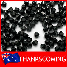 Jet (280) Genuine SWAROVSKI 5328 Crystal Beads Bicone 4mm * 50 / 100 / 200 *