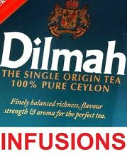 Dilmah INFUSION Tea Peppermint Camomile Zesty Rosehip Hibiscus Jasmine Moroccan
