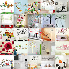 Wholesale Money Super Mario Owls Flowers Tree Birdcage Wall Decals Sticker PVC