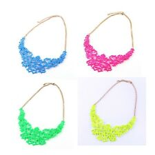 Hot New Fashion Noble Lady Beautiful Alloy Bib Necklace Jewelry 4Color A1719-NC