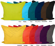 Luxury Plain Dyed 100% Cotton Cushion Covers Pillow case Size 16x16,18x18,20x20