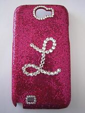 Samsung Note2 Glitter Cell Smart Phone case and cover w/Swarovski crystal intial