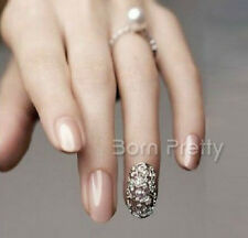Luxury Style Nail Crystal Embossed Metal 3D Nail Decorations Nail Art 2 pcs
