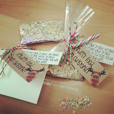 Personalised Magic Glitter Reindeer Food, Kids Gift, Countdown to Christmas Eve