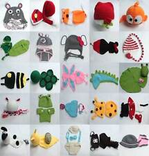Newborn Baby Crochet Knitted Animal Costume Photography Prop Beanie Hat Cap Set
