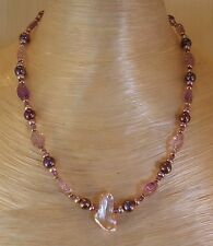 UNIQUE Pearl and Amethyst Necklace with 14K Gold