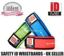 Child Kid Safe WristBand ID. Medical Identity Bracelet. Lost Find Small Children