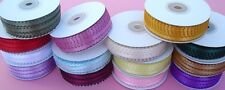3/8 Inch 50 Yards Double Faced Feather Edge Satin Ribbon