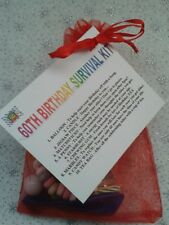 60TH BIRTHDAY Survival Kit Fun Unusual Novelty Present Gift for Him or Her