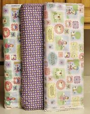 Little Bo Peep & Miss Muffet Purple Stars Coordinating Fabrics by Camelot bty