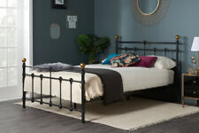 Traditional Vintage Style Metal Bed In Black Or Ivory 3FT, 4FT, 4FT6, 5FT - SALE