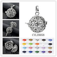 Newest Solid Sterling Silver Mexican Bola PENDANT Harmony Ball DIY Cage or Ball
