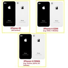 Back Cover Glass Replacement Repair Rear Door Part for iPhone 4 4S CDMA GSM