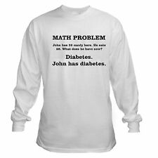 MATH PROBLEM CANDY FUNNY SUGAR NURSE DIABETIC DIABETES LONG SLEEVE T-SHIRT