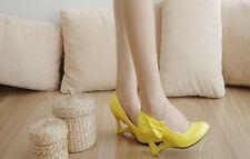 women's bow round toe high heel ladies' wedge pump platform patent leather shoes