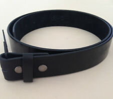 """Black PU Leather Buckle Belt Strap with Snap On Belt 1-1/2"""" wide"""