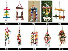 Parrot Bird Toy Quality Large Wooden Rope Cave Aviary Ladder Swings Bells