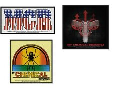 MY CHEMICAL ROMANCE MCR - OFFICIAL SEW-ON WOVEN PATCH - various designs and logo