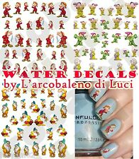 WATER DECALS 7 SETTE NANI DWARFS STICKERS UNGHIE NAIL  ART ADESIVI  TATTOO DECAL