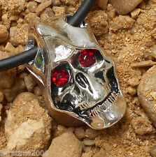 Mask Skull Death pendant silver pewter Lord Fener Halloween Scary Movie crystal