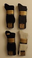 4 PAIRS OF GOLD TOE PREMIUM PIMA COTTON HOSIERY SOCKS CHOICE OF BLACK BLUE BROWN