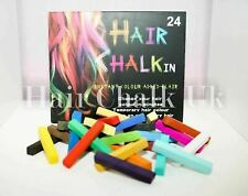 HAIR CHALK UK - 6 Piece Sets of Hair Chalk, Hair Pastels, Hair Colour, Salon Kit