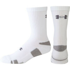 Under Armour Heatgear Mens Crew Socks - 3 Pair of Black or White - Md, Lg or XL