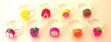 GORGEOUS HANDMADE  FRUIT EXPANDABLE RINGS -  FREE GIFT BAG & FAST FREE SHIPPING