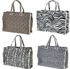 WOMEN'S / LADIES ANIMAL PRINT HANDBAG / TOTE SHOPPER BAG