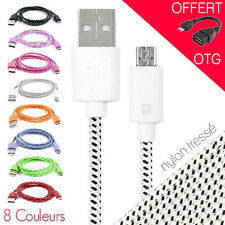 Cable micro usb chargeur sync data pour smartphones Samsung Htc Sony +OTG OFFERT