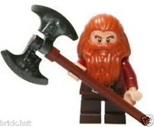LEGO LORD OF THE RINGS - GLOIN THE DWARF FIGURE + FREE DOUBLE AXE - RARE - NEW