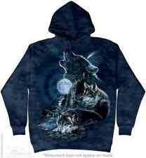 Wolves Bark at the Moon Hoodie The Mountain Adult Size Hoodie Sweatshirt