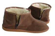 Womens Mens Unisex Natural Leather Sheepskin Slipper Boots