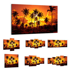 CANVAS PICTURE - WALL ART - Palms Tropics Sun - 30 SHAPES - UK 0187
