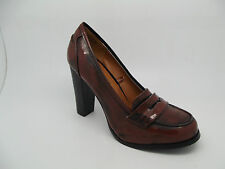 CLASSY LADIES EX RED HERRING @ DEBENHAMS VTG BROWN SMART SHOES HEELS  OFFICE 3-8