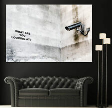Wall Art Canvas Print Graffiti Banksy What Are You Looking At Home Decor Prints
