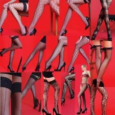 Fishnet Tights Hold Ups Stockings Bodystocking Med Large O/S Various Styles New