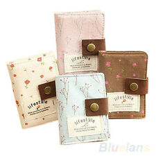 Slot Floral Credit ID Card Wallet Purse Holder Pouch Coin Storage Bag New B37U