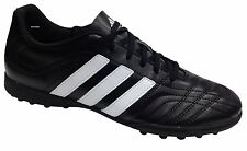 New Mens Boys Adidas Goletto 2 TF AstroTurf Trainers Black White Sport Indoor