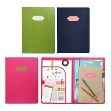 Girls Colorful A4 Document Holder with Note Pad File Paper Organizer Case School