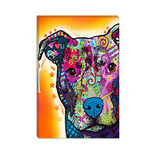 Heart U Pit Bull Dean Russo Canvas Print Painting Reproduction