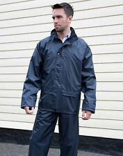 RESULT R225X Core Unisex Waterproof Rain Suit Jacket& Trouser Set 3Colours S-3XL