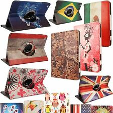For Apple Samsung Kindle Tablet 360 Degree Rotating PU Leather Flip Folio Case