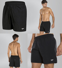 022436 SWIM CLEARANCE Speedo Solid Leisure Men's Swimming Shorts - Black