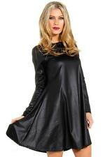 Glamorous PVC Leather Look Long Sleeved Swing Mini Dress Spring Collection