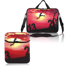 """Setting Sun Shoulder Bag Pouch Sleeve Case Cover for 10"""" 13"""" 15"""" 17"""" PC Laptop"""
