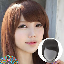 Authentic KPOP Clip in on Human Hair Natural Style Bang Bangs Extensions HH-1013